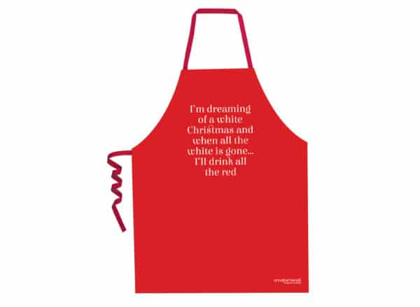 Christmas Screen Print Aprons - White Christmas - Annabel Trends