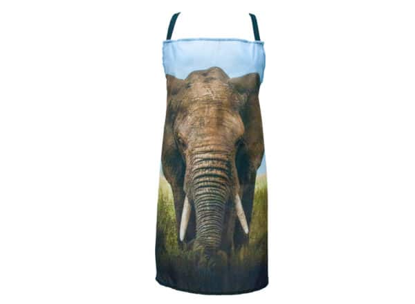 Animal Photo Print Apron - Elephant - Annabel Trends