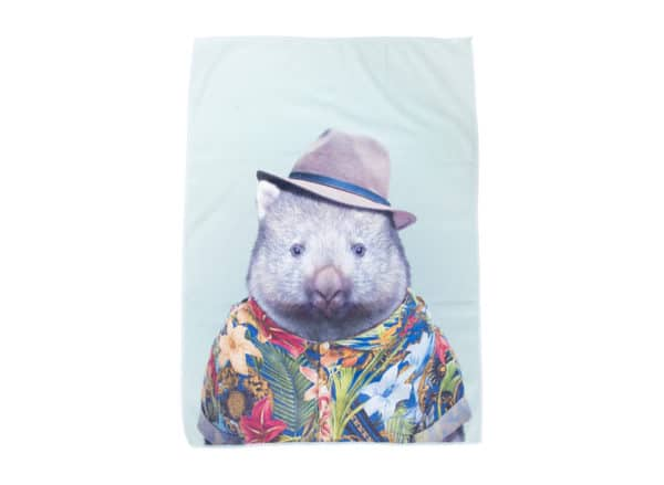 Zoo Portrait - Tea Towel - Wombat - Annabel Trends