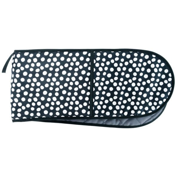 Oven Mitt - Double - Spot Black 1