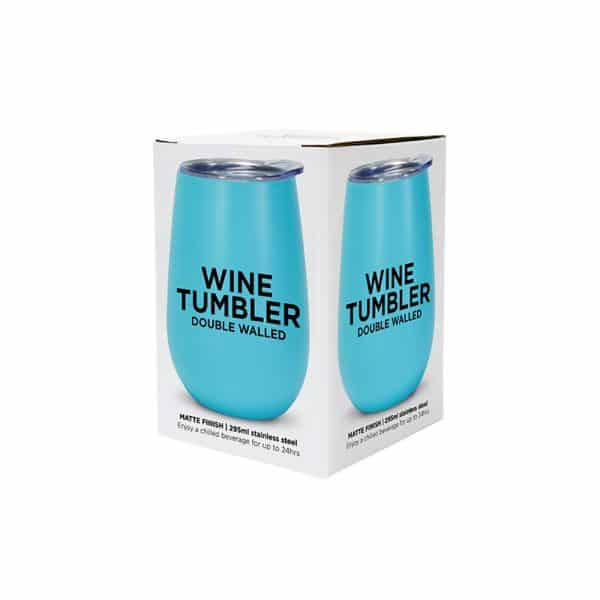 Wine Tumbler - Double Walled - Stainless Steel 18