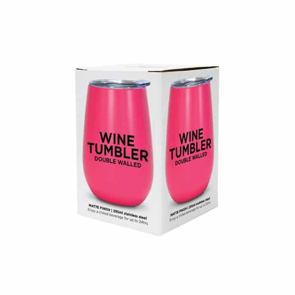 Wine Tumbler - Double Walled - Stainless Steel 14
