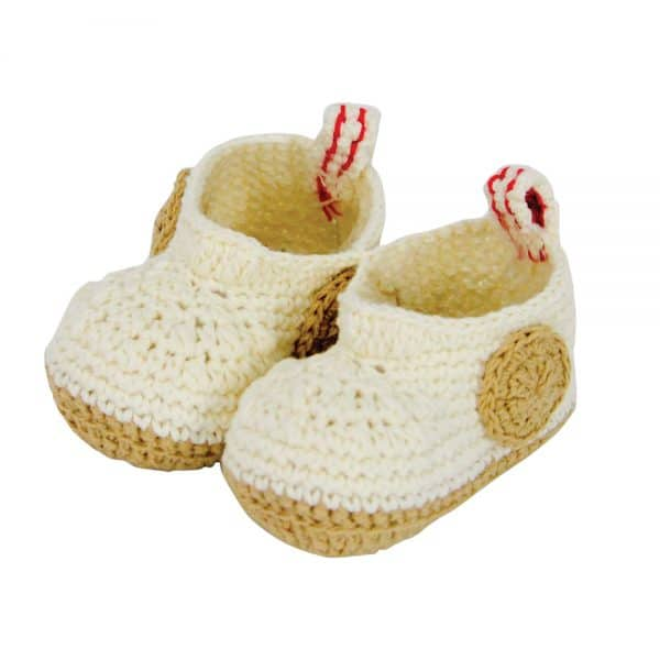 Baby Bootie - Crochet - Natural - Annabel Trends