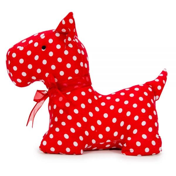 Doorstop - Scotty Dog - Red Polka Dot - Annabel Trends