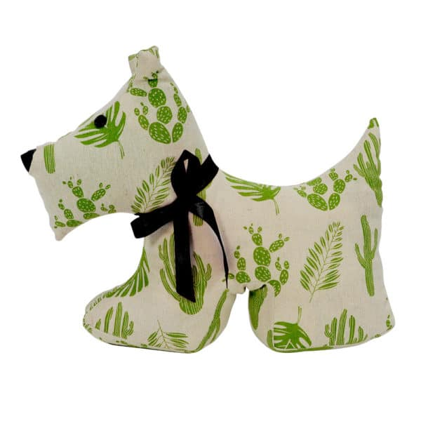 Doorstop Scotty Dog Tropical Green - Annabel Trends