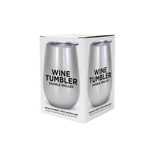 Wine Tumbler - Double Walled - Stainless Steel - Annabel Trends
