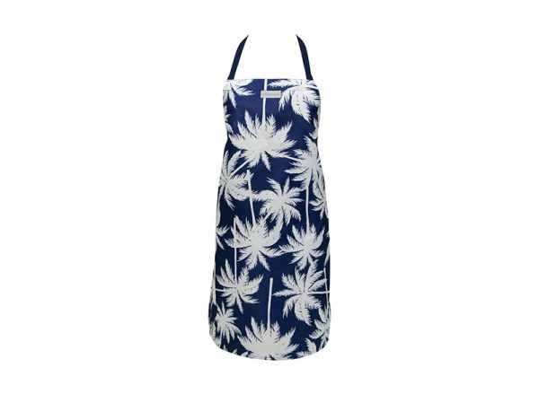 Apron - Easy Wipe - Palm Navy - Annabel Trends