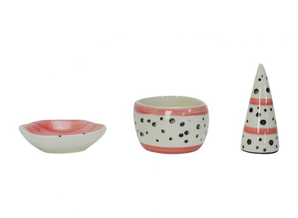 Ceramic Jewellery Set - Pink - Annabel Trends