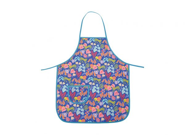 Kids Apron - Big Cat Blue - Annabel Trends