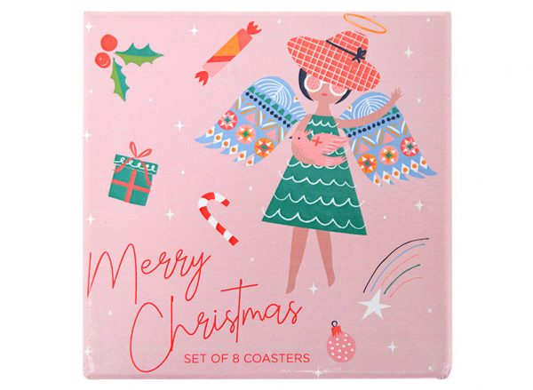Coaster Set - Christmas Angel - Annabel Trends