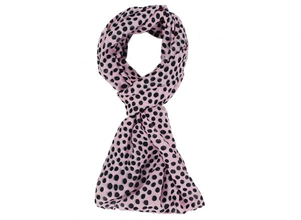 Scarf - Spot Pink - Annabel Trends