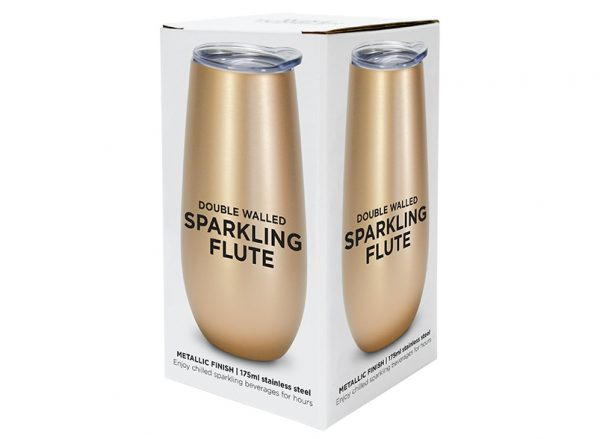 Sparkling Flute - Double Walled - Stainless Steel - Annabel Trends
