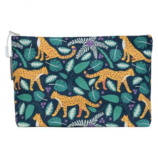 Cosmetic Bag - Large - Leopards Dark - Annabel Trends