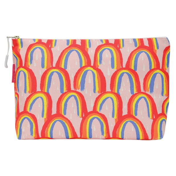 Cosmetic Bag - Large - Rainbows - Annabel Trends