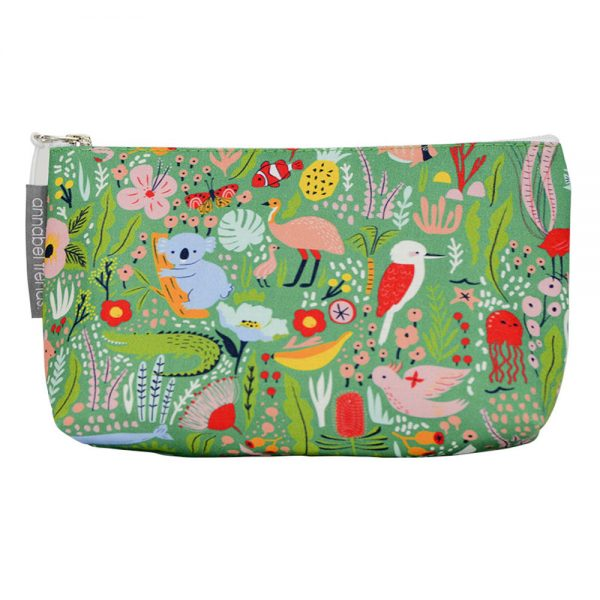 Cosmetic Bag - Small - Down Under Green - Annabel Trends