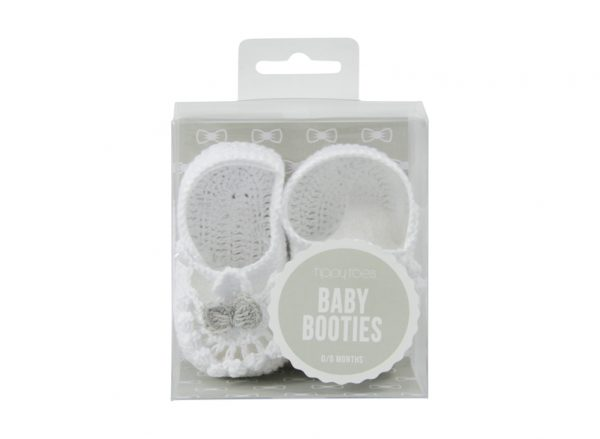 Baby Bootie - Crochet - White - Annabel Trends