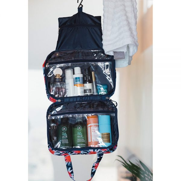Toiletries Bag - Tree Waratah Navy - Annabel Trends