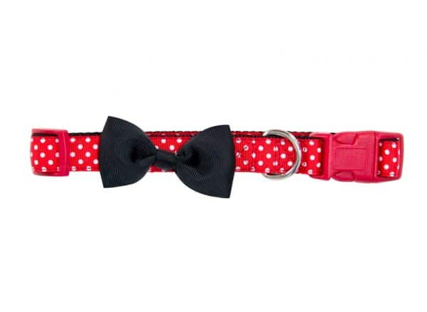 Hot Dog Collar - Spot Red - Annabel Trends