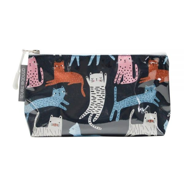 Cosmetic Bag – Small - Cat Mix - Annabel Trends