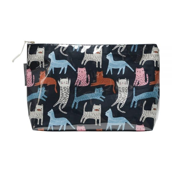 Cosmetic Bag - Large - Cat Mix - Annabel Trends