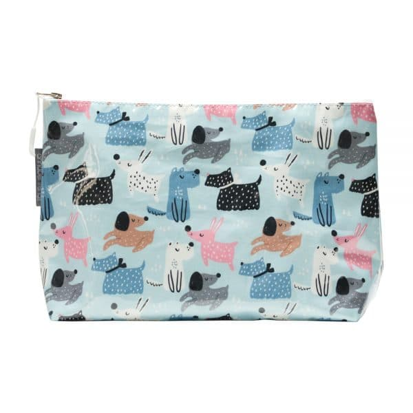 Cosmetic Bag - Large - Dog Mix - Annabel Trends
