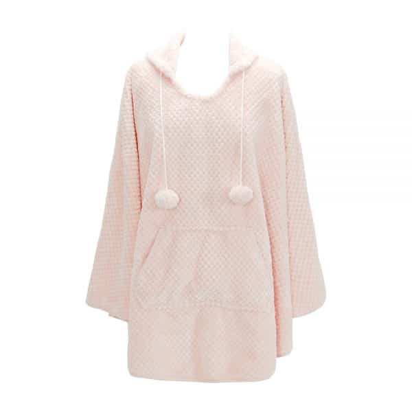 Cosy Luxe - Hooded Poncho Robe - Annabel Trends