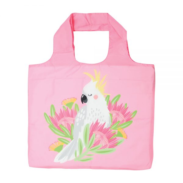 Shopping Tote - Pink Cockatoo - Annabel Trends