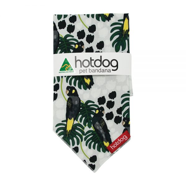 Hot Dog - Bandana - Black Cockatoo - Annabel Trends