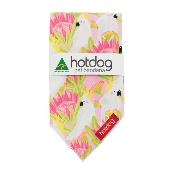 Hot Dog - Bandana - Cockatoo Pink - Annabel Trends