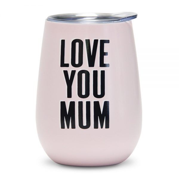 .Wine Tumbler - Double Walled - Love You Mum - Annabel Trends