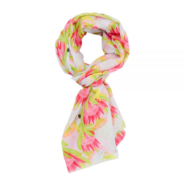 Scarf - Cockatoo Pink - Annabel Trends