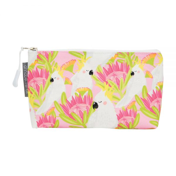 Cosmetic Bag – Small - Cockatoo Pink - Annabel Trends