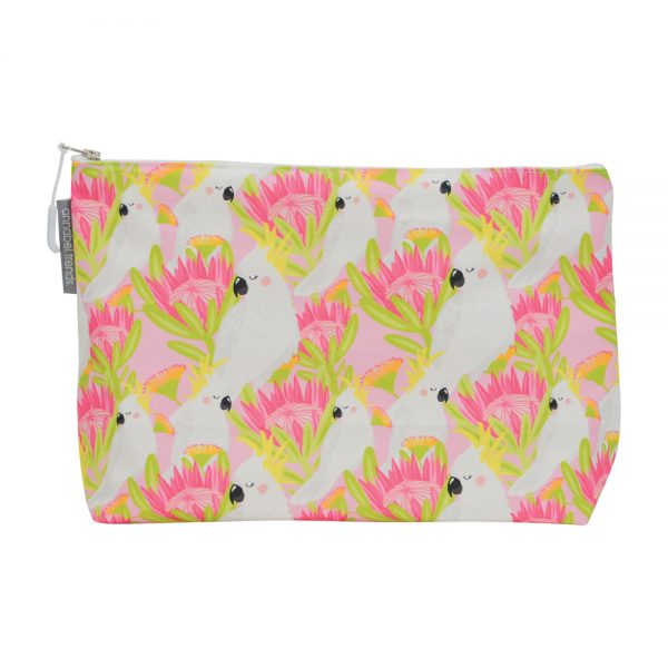 Cosmetic Bag - Large - Cockatoo Pink - Annabel Trends