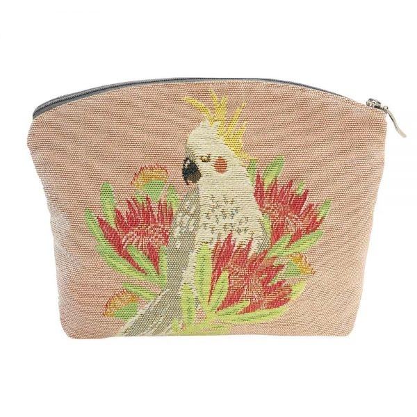 Annabella French Tapestry Cosmetic Bag - Aussie Birds - Annabel Trends