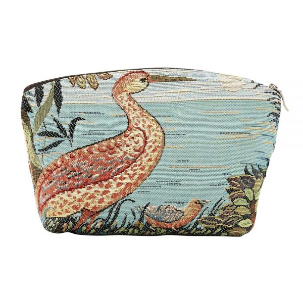 Annabella French Tapestry Cosmetic Bag - Heron - Annabel Trends