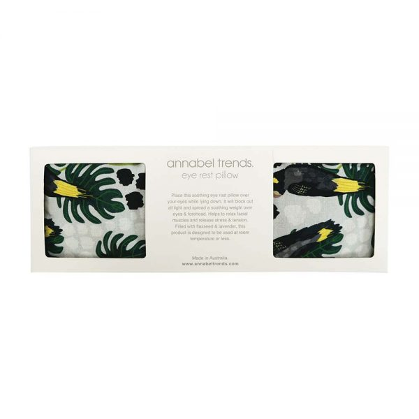 Eye Rest Pillow - Black Cockatoo - Annabel Trends