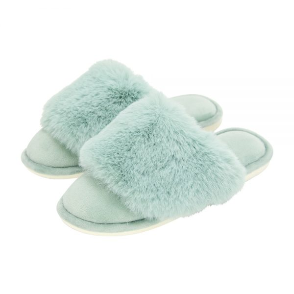 Cosy Luxe - Slippers - Sage - Annabel Trends