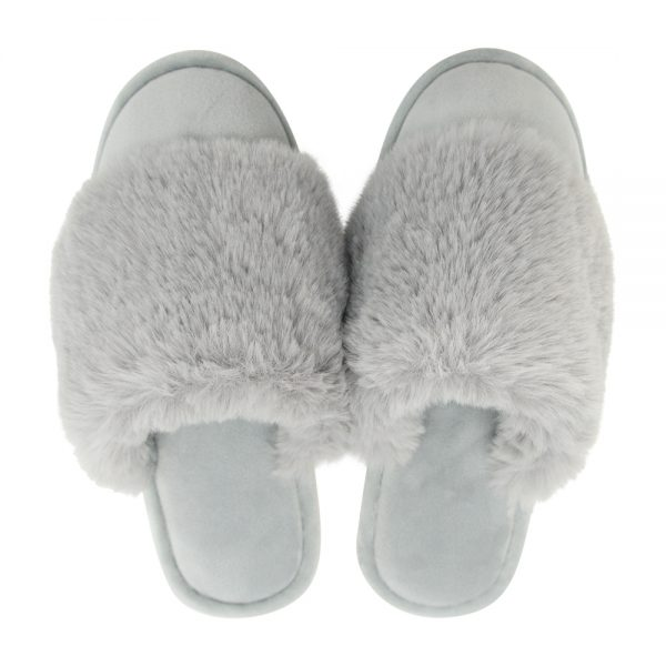 Cosy Luxe - Slippers - Grey - Annabel Trends