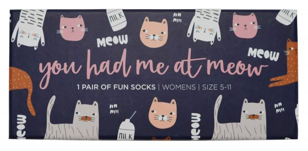 Boxed Socks - You Had Me At Meow - Annabel Trends
