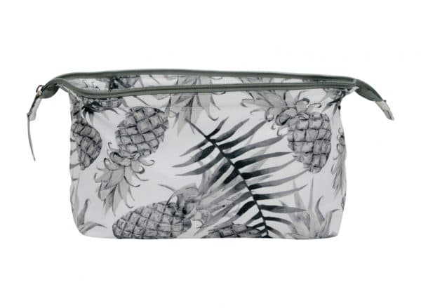 Wide Access Cosmetic Bag - Pineapple - Annabel Trends