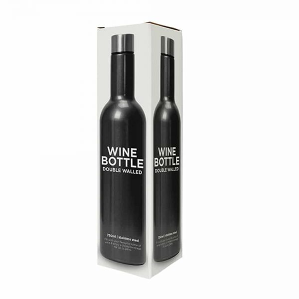 .Wine Bottle - Double Walled - Stainless Steel - Annabel Trends