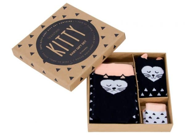 Boxed Baby Sock Set - Kitty - Annabel Trends